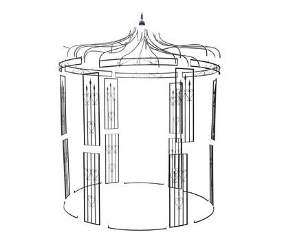 metall pavillon heart rund schwarz 232 x 232 x 271 cm dehner garten center. Black Bedroom Furniture Sets. Home Design Ideas