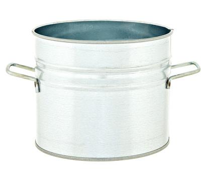 Metall-Blumentopf, verzinkt, rund, Ø 18 cm