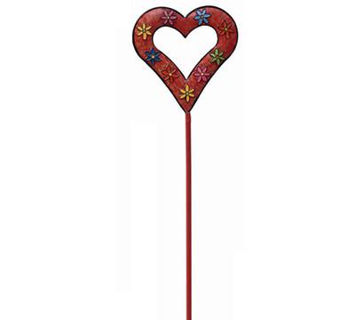 Metall-Dekostecker Herz mit Blumenmuster