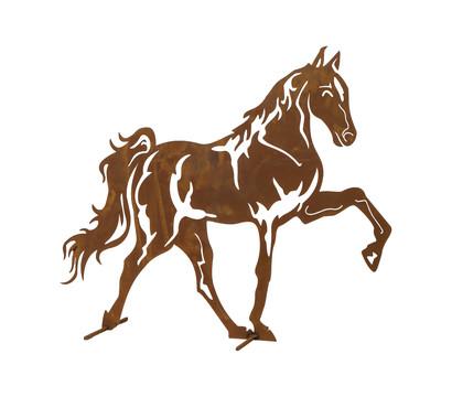 Metall-Mustang, 70 x 60 cm, rost