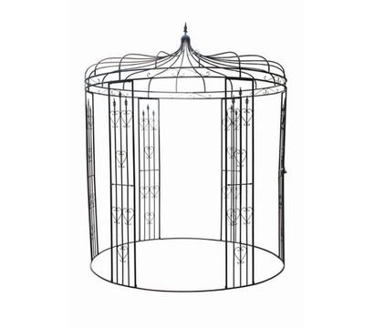 metall pavillon heart rund schwarz 232 x 232 x 271 cm dehner. Black Bedroom Furniture Sets. Home Design Ideas