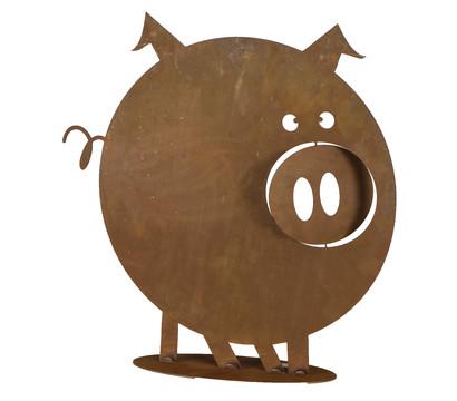 Metall-Schwein Gustav, 49 cm, rost