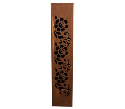 Metall-Säule Blume, B20/H100/T20 cm