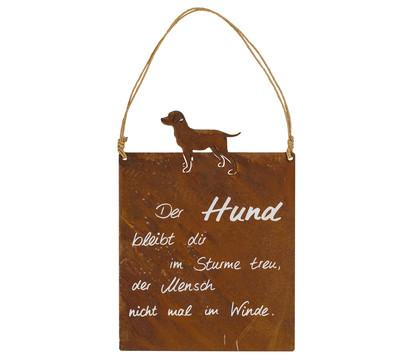 Metall-Tafel Hund, B18/H24 cm