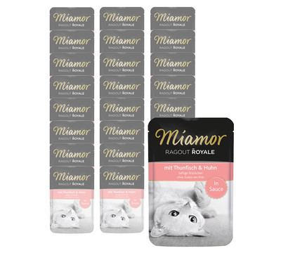 Miamor Ragout Royale in Sauce, Nassfutter, 22 x 100g