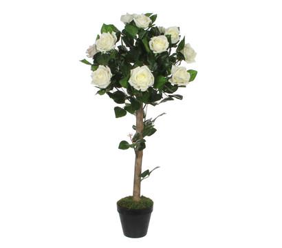 Mica Kunstpflanze Rose Topiara, creme