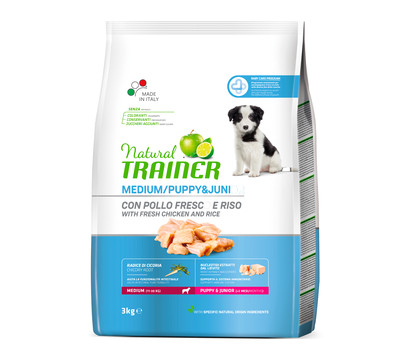 Natural TRAINER Trockenfutter Medium Puppy & Junior