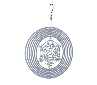 NATURE'S MELODY Windspiel Cosmo Mandala, Ø 20 x 29,3 cm, silber
