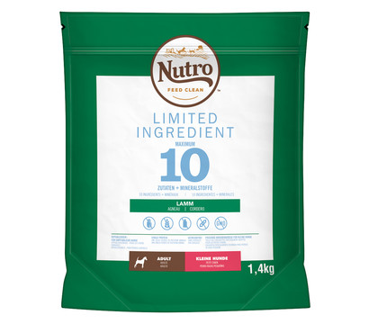 Nutro™ FEED CLEAN™ Trockenfutter Limited Ingredient Diet Adult Small, 1,4kg