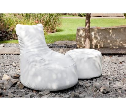 outbag outdoor sitzsack rock deluxe light white dehner. Black Bedroom Furniture Sets. Home Design Ideas