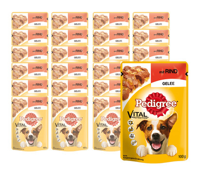 Pedigree Vital Protection, Rind in Gelee, Nassfutter, 24 x 100g