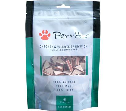 Perrito Katzen-/Hundesnack Chicken & Pollock Sandwich Triangle, 100g