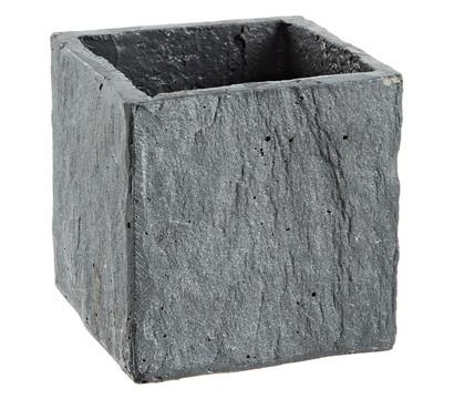 pflanzgef in stein optik eckig grau dehner garten center. Black Bedroom Furniture Sets. Home Design Ideas