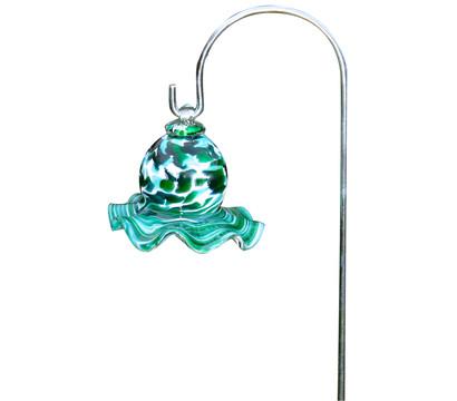 Polczer Glas-Miniglocke mit Stab, Ø 8 x 65 cm