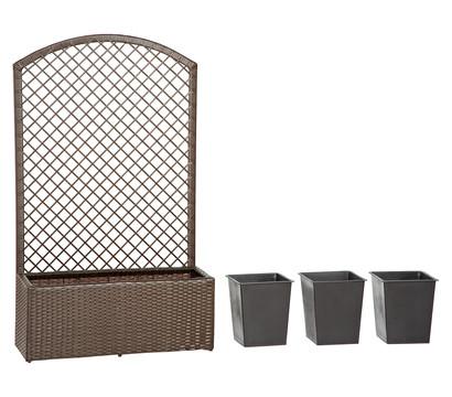 dehner polyrattan blumenkasten spalier florenz 140 x 84. Black Bedroom Furniture Sets. Home Design Ideas