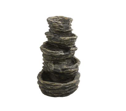 polyresin brunnen 5 stufig. Black Bedroom Furniture Sets. Home Design Ideas