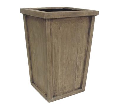 Polyresin-Vase in Holzoptik, braun