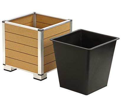 polystone topf inkl kunststoff einsatz braun dehner garten center. Black Bedroom Furniture Sets. Home Design Ideas