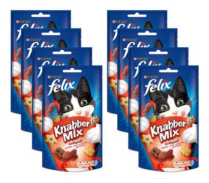 PURINA felix® Katzensnack KnabberMix Grillspaß, 8 x 60g