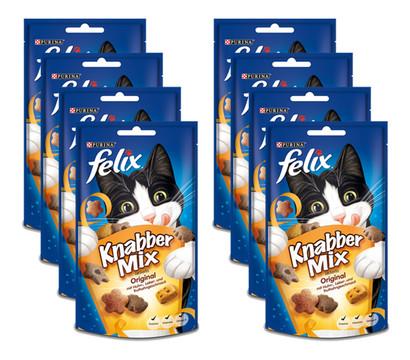 PURINA felix® Katzensnack KnabberMix Original, 8 x 60g