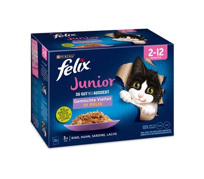 PURINA felix® Nassfutter So gut wie es aussieht Gemischte Vielfalt Junior