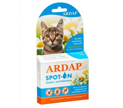 Quiko® Zecken- und Flohschutz Ardap Spot On für Katzen bis 4kg, 3 x 0,4ml