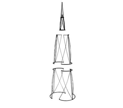 rankhilfe obelisk mit glaskugel 2 7 m dehner garten center. Black Bedroom Furniture Sets. Home Design Ideas
