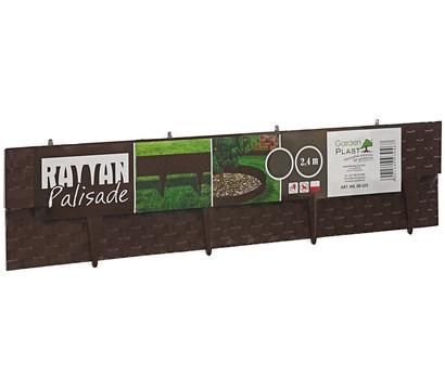 Rattan-Rasenkante, 2,4 m