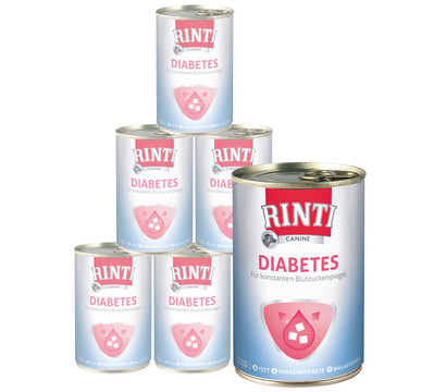 Rinti Canine Nassfutter Diabetes, 6 x 400g