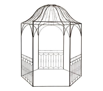 Rosenpavillon, 203 x 203 x 264 cm, antik-braun