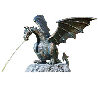 Rottenecker Bronze-Drache Terrador klein, wasserspeiend