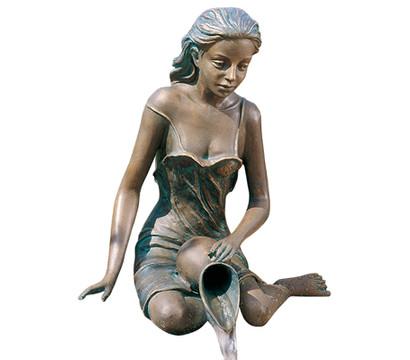 Rottenecker Bronze-Figur Elonie groß, wasserspeiend
