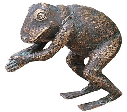 Rottenecker Bronze-Figur Nobse, 6,5 x 14,5 x 13 cm