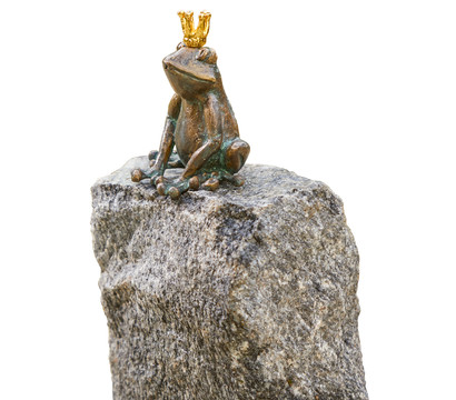 Rottenecker Bronze-Froschkönig, 8 x 9 x 13 cm