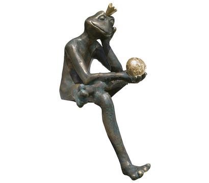 Rottenecker Bronze-Froschkönig Borris, wasserspeiend