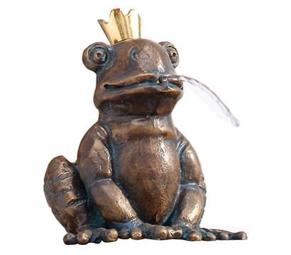 Rottenecker Bronze-Froschkönig Otto, wasserspeiend