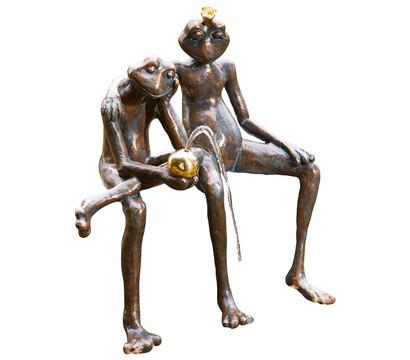 Rottenecker Bronze-Froschkönigpaar, wasserspeiend