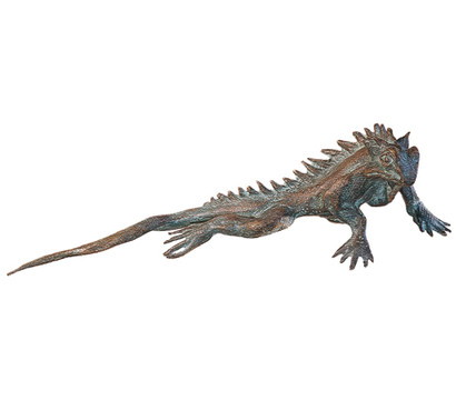 Rottenecker Bronze-Gecko, 18 x 7,5 x 6 cm