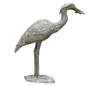 Rottenecker Bronze-Graureiher, wasserspeiend