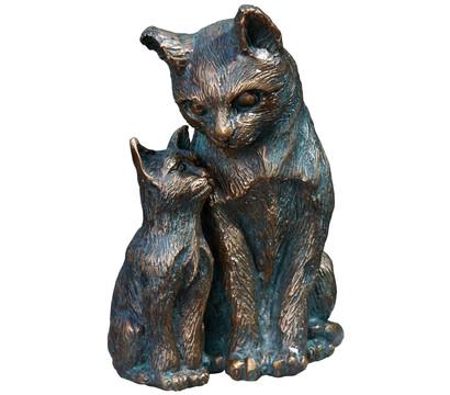Rottenecker Bronze-Schmusekatzen, 9 x 11 x 16 cm