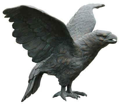 Rottenecker Bronze-Steinadler, 80 x 40 x 39 cm