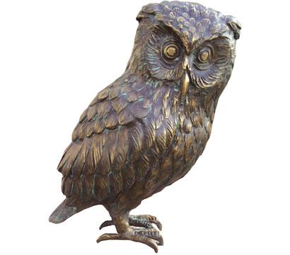 Rottenecker Bronze-Uhu, 17 x 13 x 29 cm