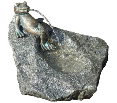 Rottenecker Granit-Gartenbrunnen Frosch Heinrich, Ø 55 x 60 cm
