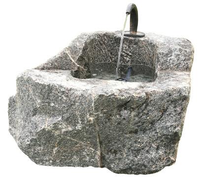 Rottenecker Granit-Trog mit Wasserauslauf