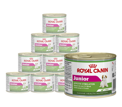 Royal Canin Mini Junior, Nassfutter, 12 x 195g