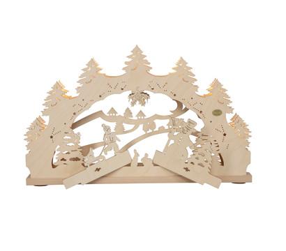 Saico 3D-Lichterbogen Winterwald, mit Wechselmotiv, warmweiß