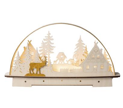 Saico LED-Lichterbogen Waldhaus, warmweiß