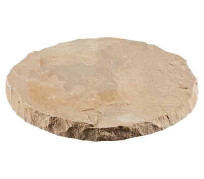 Sandsteintrittplatte, beige, Ø ca. 30 cm