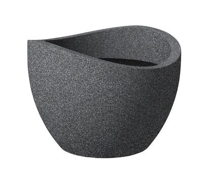 Scheurich Kunststoff-Topf Wave Globe, schwarz-granit