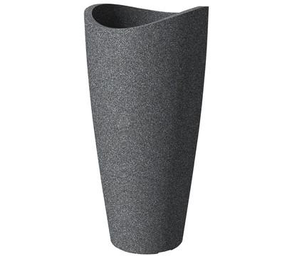 Scheurich Kunststoff-Vase Wave Globe High Slim, ca. Ø39,5/H80 cm, schwarz-granit
